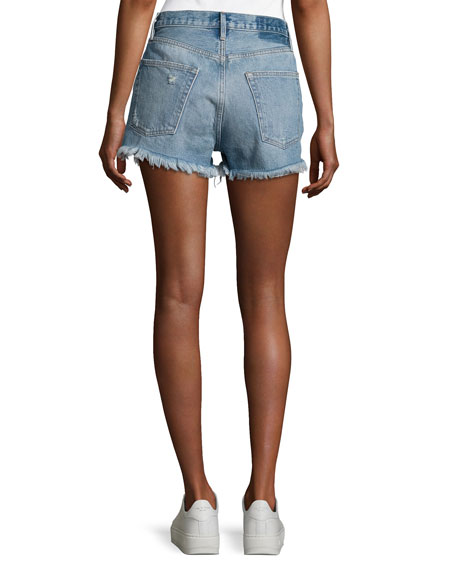 Le Original Rigid Re-Release Denim Shorts, Blue