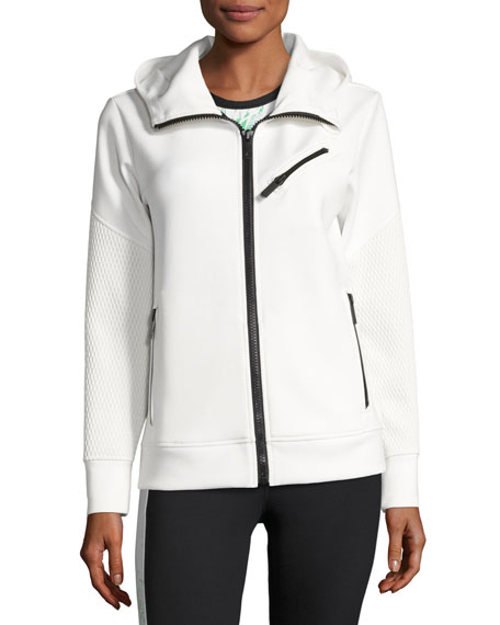 Neo Zip-Up Athletic Jacket, White