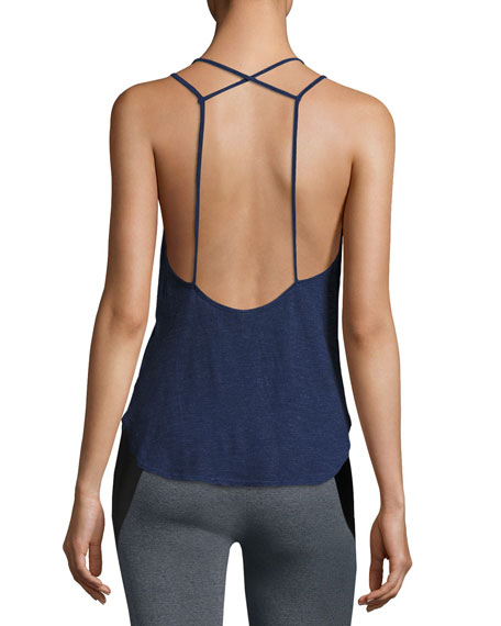 X-Back Scoop-Neck Cami Top, Purple