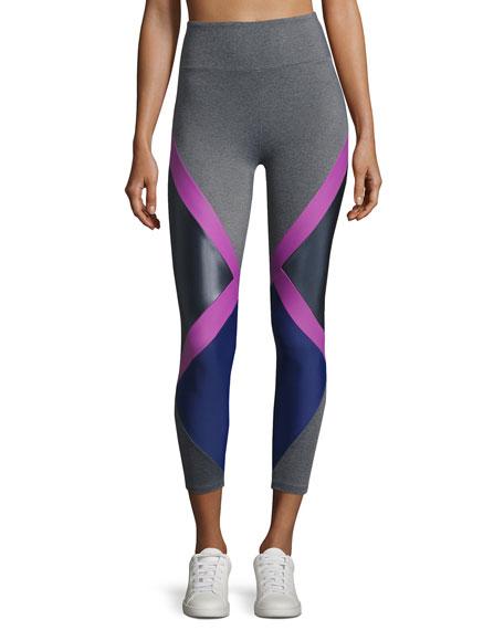 Jackson Diamond Block Leggings, Purple Pattern