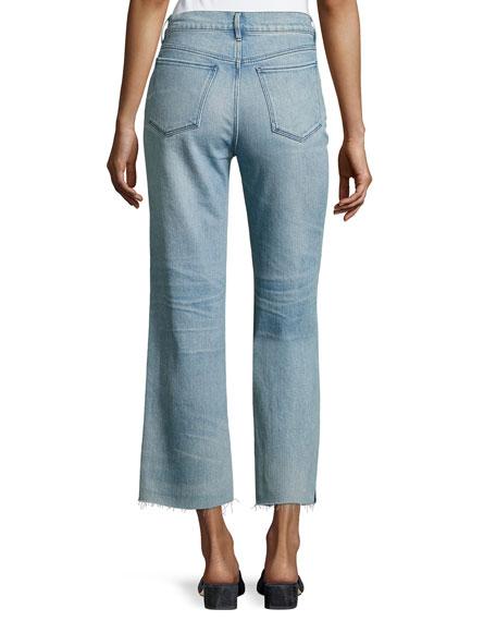 Shelter Wide-Leg Cropped Pants, Blue