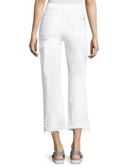 The Kiki Jeans W/ Released Hem, White