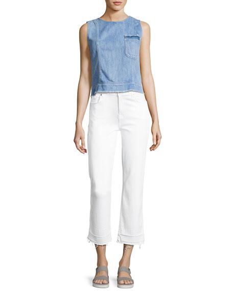The Kiki Jeans W/ Released Hem, White
