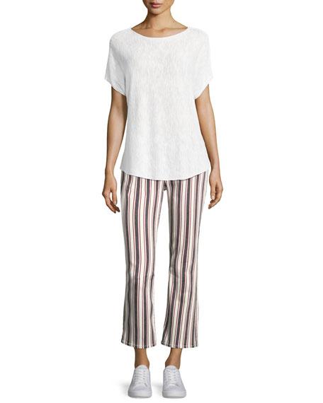 Jocelyn Striped Straight-Leg Jeans, Multi Pattern