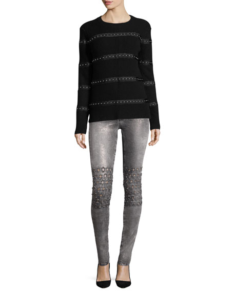 Emma Mid-Rise Skinny Jeans, Rush Vegas Gray