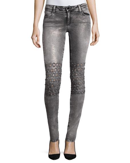 Brockenbow Emma Mid-Rise Skinny Jeans, Rush Vegas Gray