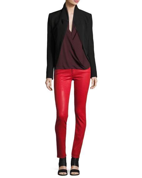Emma Mid-Rise Skinny Jeans, Fontana Lucia Wax Red