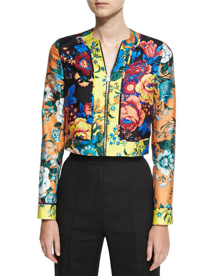 Diane von Furstenberg Bournier Fitted Paneled Collarless Jacket,
