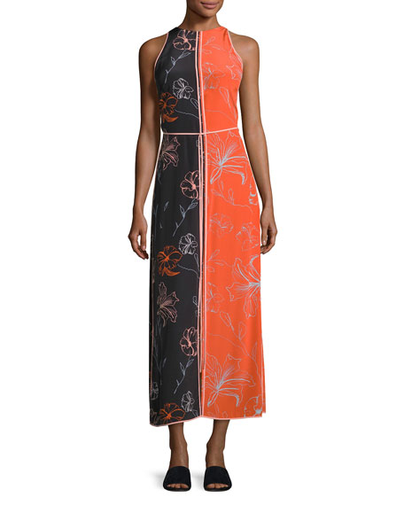 Diane von Furstenberg Sleeveless Paneled Floor-Length Dress,