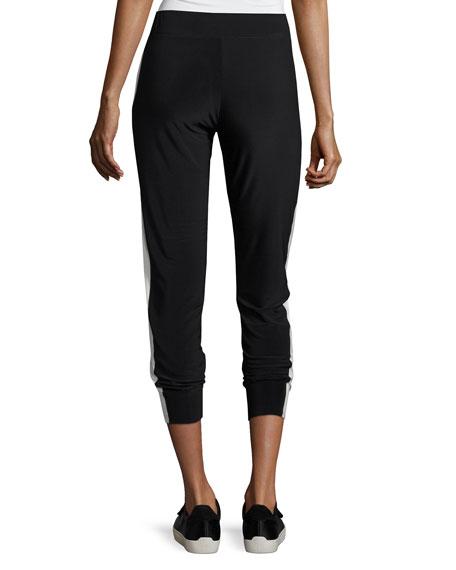 Side-Stripe Jog Pants, Gray