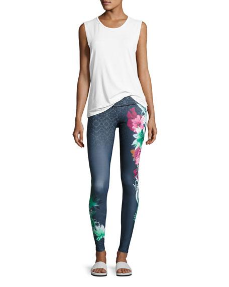 Onzie High-Rise Graphic Legging, Black Pattern