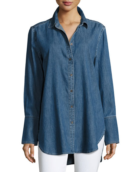 Equipment Arlette Button-Down Chambray Shirt, Blue