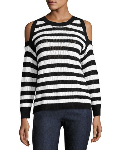 Tracey Crewneck Cotton Sweater, Multipattern