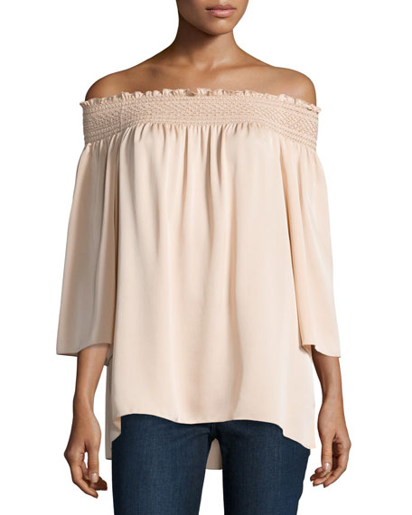 b5f1e470b09 Theory Elistaire Off-the-Shoulder Modern Georgette Top, Ivory