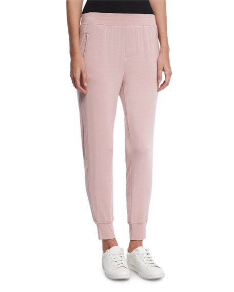 ATM Anthony Thomas Melillo Jersey Jogger Sweatpants, Pink