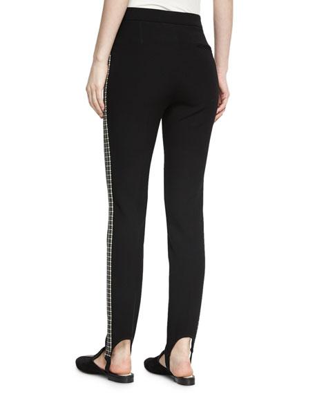 Stirrup Side Insert Pants, Black