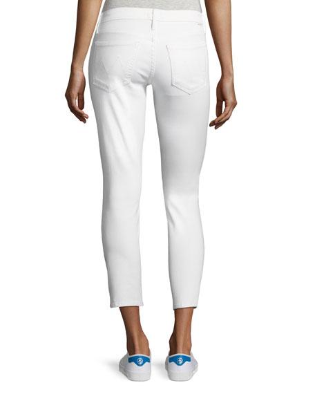 Looker Glass Slipper Crop Jeans, White