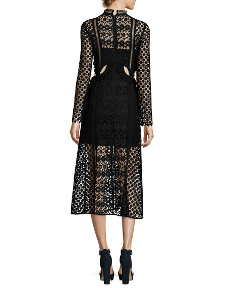 Payne Cutout Midi Dress, Black