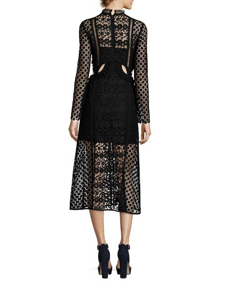 Payne Cutout Midi Dress, Black