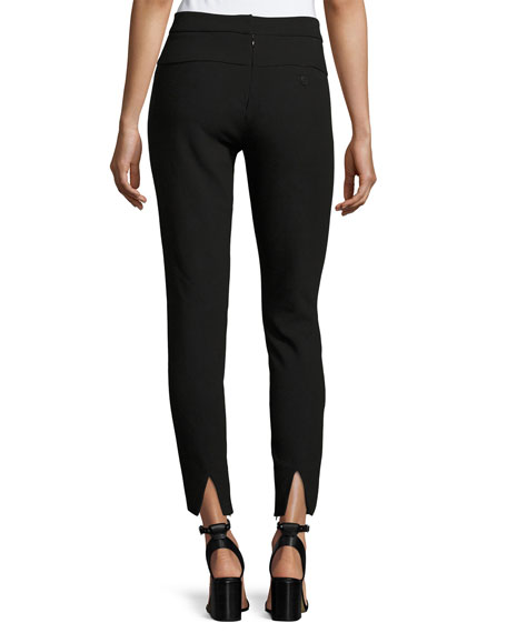 Slim-Fit Ankle Pants w/ Paneled Waist Detail