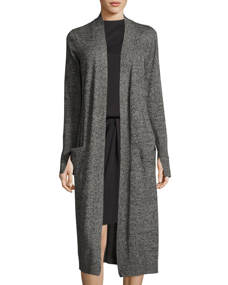 Halston Heritage Long-Sleeve Open-Front Duster Cardigan