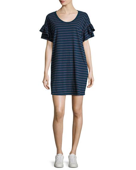 The Ruffle Roadie Short-Sleeve T-Shirt Dress