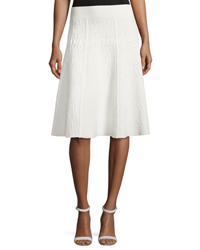 Amya Textured A-Line Skirt