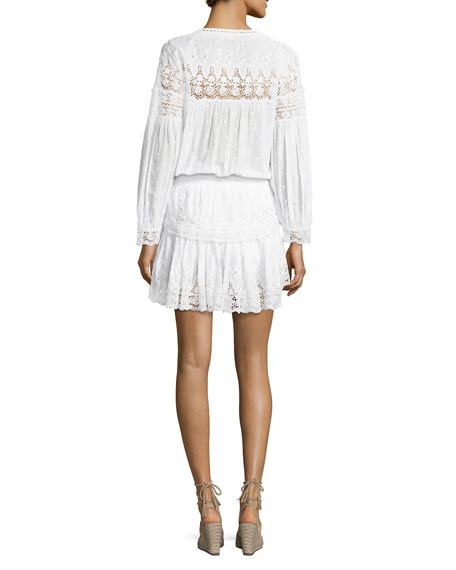 Prairie Popover Crocheted Dress, White