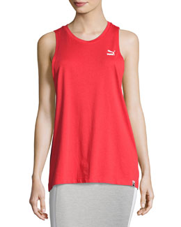 Archive Logo Athletic Tank Top, Red
