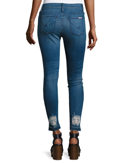 Barbara High-Rise Super Skinny Ankle Jeans, Indigo