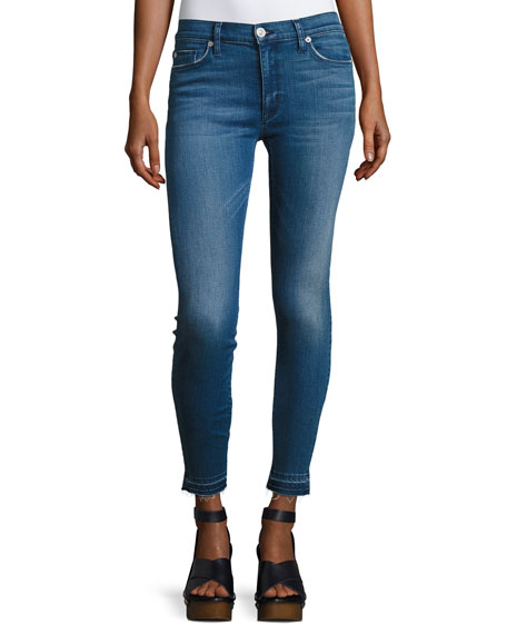 Barbara High-Rise Super Skinny Ankle Jeans, Indigo