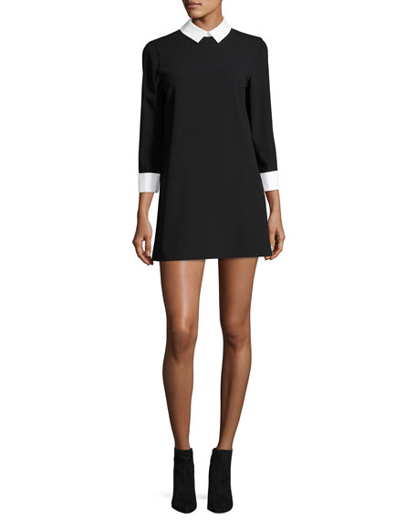Alice + Olivia Prudence Shift Dress W/ French