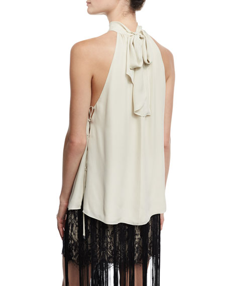 The Morrison Silk Tie-Back Tank, Antique
