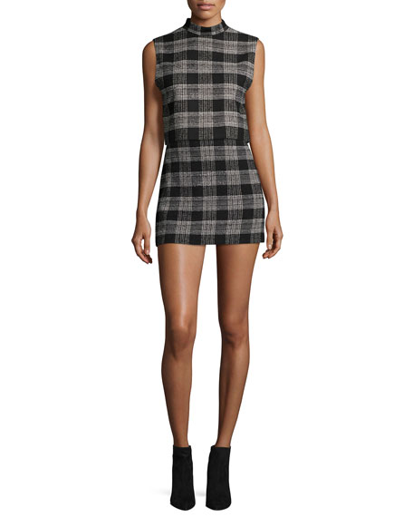 Elana Plaid Mini Skirt