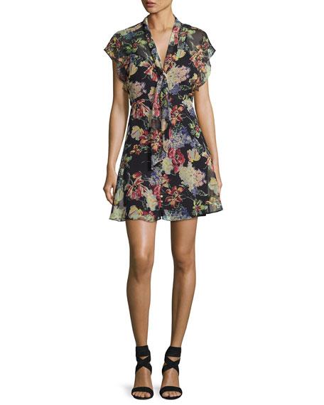 Romeo Floral-Print Chiffon Dress, Multi