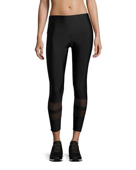 7/8 Racer Performance Leggings, Black
