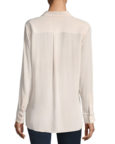 Sonny Button-Front Long-Sleeve Pajama Top