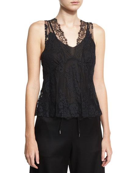 Hybrid Lace Top, Black