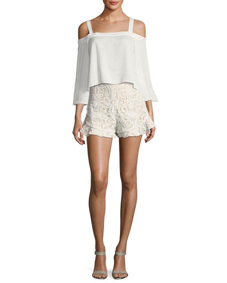 Barron Lace High-Waist Shorts