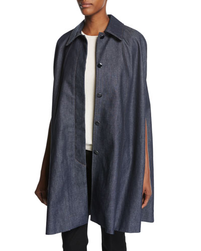 Anthologie Denim Cape  Blue