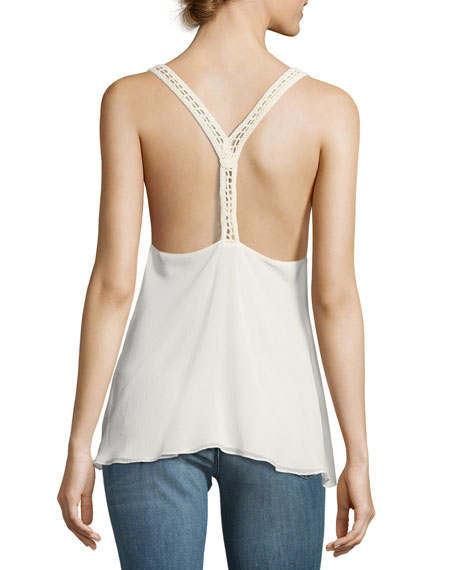 Peggy Suspender Camisole Top, Off White