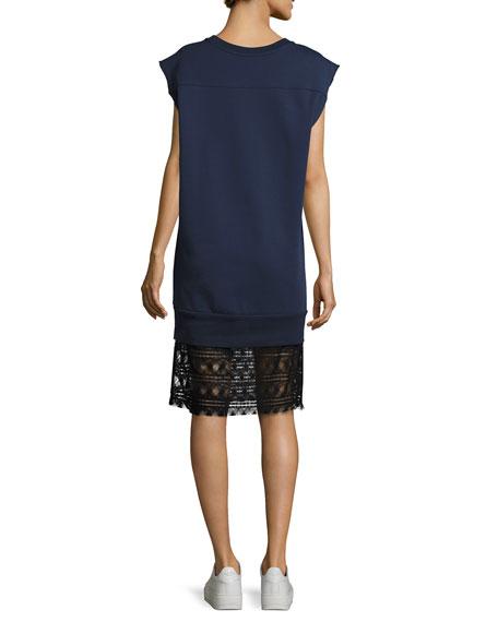 Tesa Cotton Lace Shift Dress, Dark Blue