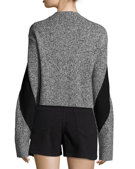 Sana Long-Sleeve Pullover Sweater, Gray