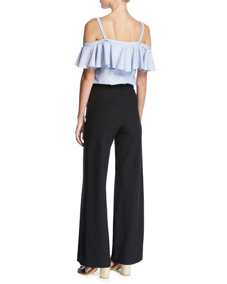 17612de8602839 Veronica Beard Grant Off-Shoulder Ruffle Top