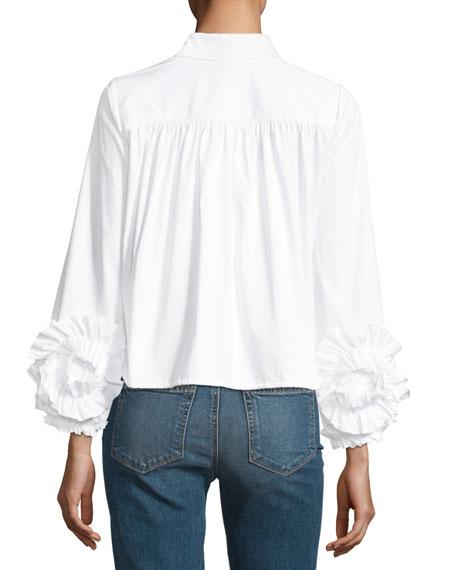 Cloe Poplin Button-Front Shirt