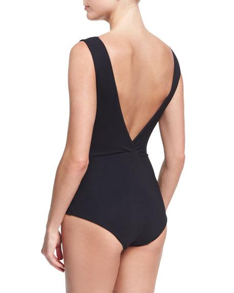 Nanni Illusion Mesh One-Piece Swimsuit, Black
