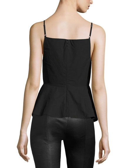 Sleeveless Shirt W/ Front Keyhole, Black
