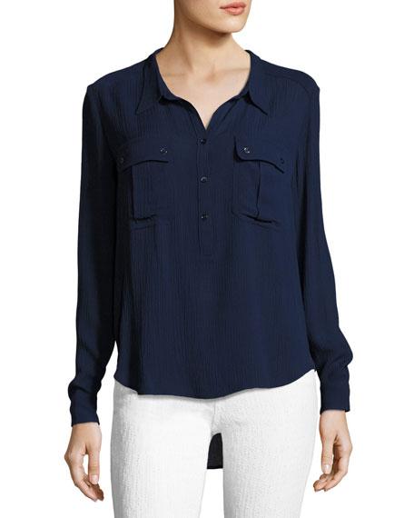 AG Nevada Henley Pullover Shirt, Blue