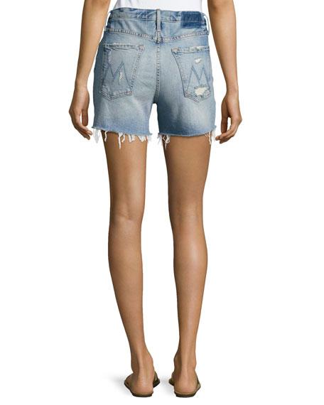 Proper High-Rise Denim Shorts, Indigo