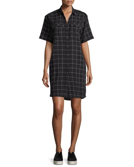 The Work-Wear Grind-Print Short-Sleeve Dress